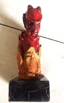 Vintage 1940's American Red Devil Car Mascot