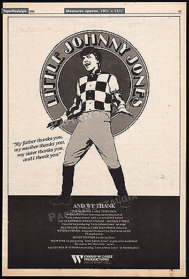 LITTLE JOHNNY JONES__Original 1981 Trade Print AD promo / poster__ERIC WEITZ