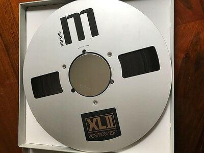 """MAXELL XLII (position EE) 35-180 Recording Tape 10.5"""" Metal Reel USED 3600ft"""