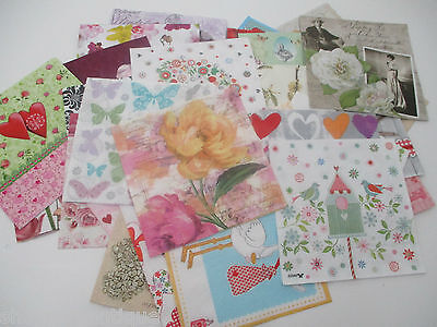 40 x DIFFERENT Paper Napkins MIXED THEMED - Set 12 - DECOUPAGE/CRAFTS/COLLECTORS
