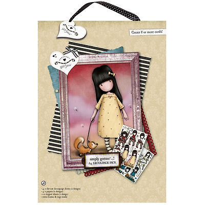 Docrafts A4 Gorjuss decoupage sheets toppers papers The Pretend Friend 4 designs