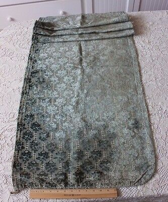 Rare French Or Italian 18thC (1700s) Silk Cut Velvet Home Dec Fabric Panel~Roses