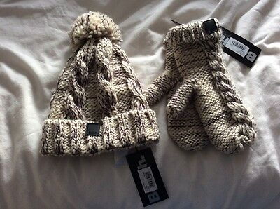 Bench Hat And Gloves / Mittens Fleece Lined