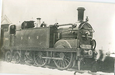Postcard size photograph Great Northern Railway GNR G Class 0-4-4T loco No 940