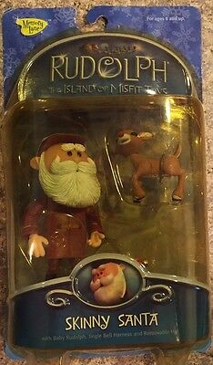 Rudolph The Red Nosed Reindeer Skinny Santa Figure New Sealed 2002 Young Rudolph