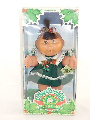 Mattel 1997 Cabbage Patch Kids Holiday Baby Louanna Keisha #17606 NRFB