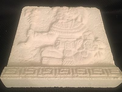The Guardian Pottery Tile of Warrior King Pacai's Tomb Hand Finished by Artisans