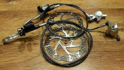 HOPE MONO C2 Hydraulic Disc Brake Set. Front & Rear With Rotas