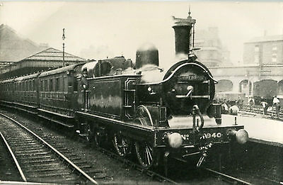 Postcard size photograph Great Northern Railway GNR G Class 0-4-4T No 940 hboard