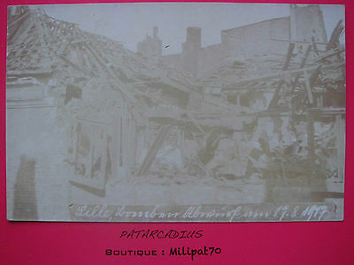 59. Destruction de LILLE - Carte photo guerre 1914 - 1918