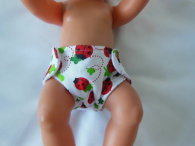 Hand Crafted Dolls Clothes For Baby Born/annabell Reuseable Washable  Nappy