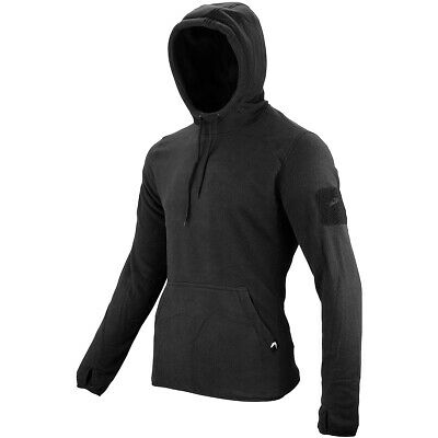 Viper Tactical Mens Hoodie Warm Fleece Jumper Army Security Polar Sweater Black