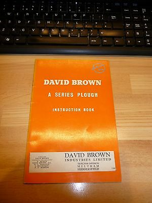David Brown 'A' Series Plough Instruction Book