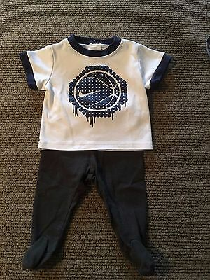 Nike Baby Boys Basketball Shirt & Baby Gap Pants 2 Piece Outfit   3-6 Months