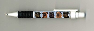 Brussels Griffon Dog Design Retractable Acrylic Ball Pen by paws2print