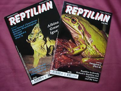 Reptilian Magazine Vol 4/5 x2 issue Job Lot VERY RARE! Herpetology Reptiles