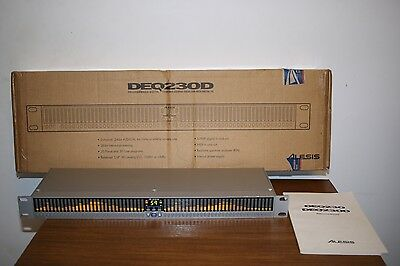 Alesis DEQ230D programmable graphic equaliser with Real Time Analyzer, RTA,boxed
