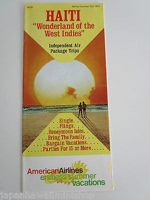HAITI HAÏTI American Airlines Summer Vacations independent air package trip 1971