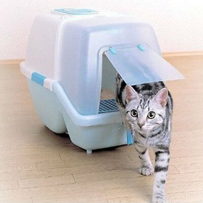 Anti-Bacterial Cat Litter Box with Scoop-Brown