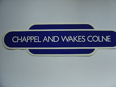 """Chapel And Wakes Colne Station  Vinyl Totem  - 10"""""""