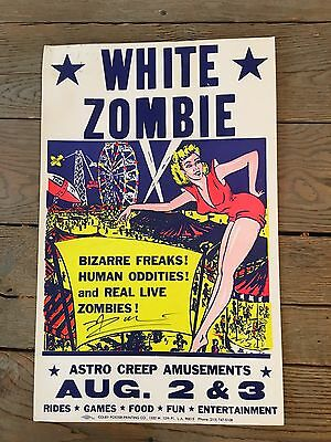 Original White Zombie Video prop signed by Rob Zombie