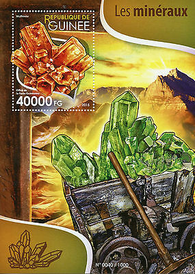 Guinea 2015 MNH Minerals 1v S/S Wulfenite Stamps