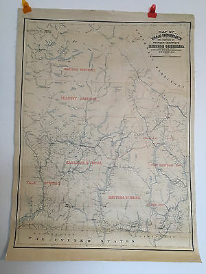 Antique map of Canada Huge Linen backed