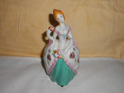 Beautiful Vintage French lady in court dress Wall Pocket Hand painted Japan