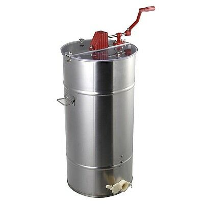 Silver Large 2 Frame Honey Extractor Beekeeping Equipment Stainless Steel