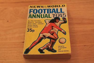 News of The World Football Annual 1974-75
