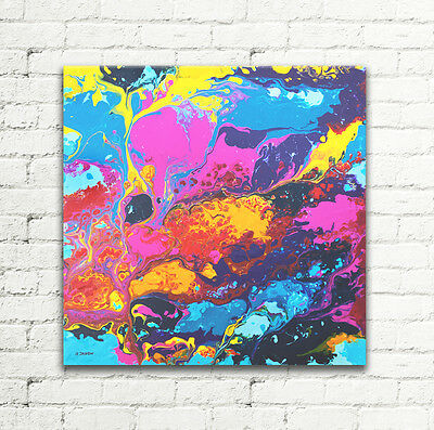 Original ABSTRACT Painting Modern Art Contemporary Wall Art on Canvas 20x20