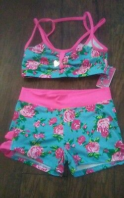 Capezio Betsey Johnson Shorts Crop Top small nwt