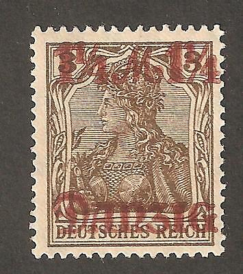RARE++ Danzig Germany 1 1/4 M DD Double overprint w/one lighter ++