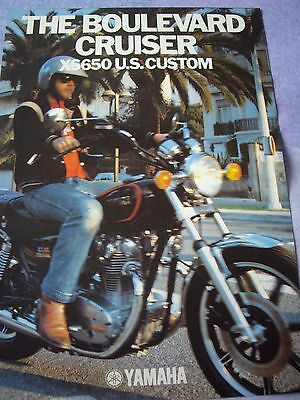 Yamaha XS650 U.S. Custom sales brochure