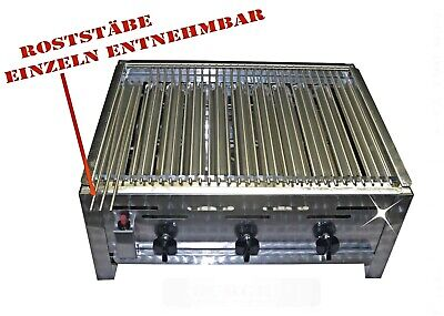 Top Rost Gasgrill 3 Flammig Grill  Bräter  Tischgrill Edelstahl Von Yourgrill