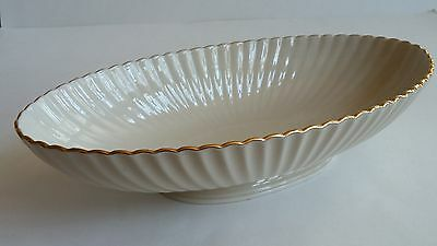 Lenox Fluted Footed Centerpiece Bowl with 24K Gold Trim 13""