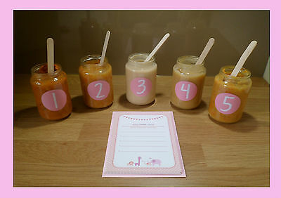Pink/Girl Baby Shower GamesBaby Shower Game - Guess The Ba - Guess the baby food