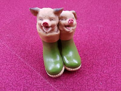 Academy Collectable Pigs in green boots