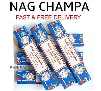 5 Packs Origional Satya Sai Baba Nag Champa Incense Sticks  Joss Insence Genuine