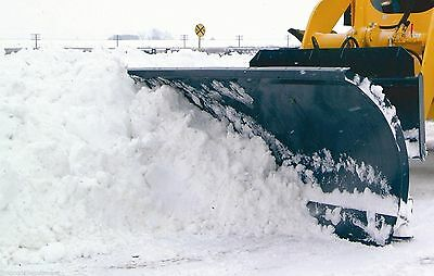 """Skid Steer Snow Blade, Bradco Hydraulic Angle, Fits Mid Size Loaders 84"""" Width"""
