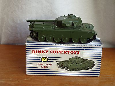 DINKY TOYS MILITARY MODEL No.651--CENTURION TANK --NEAR MINT IN EXCELLENT BOX