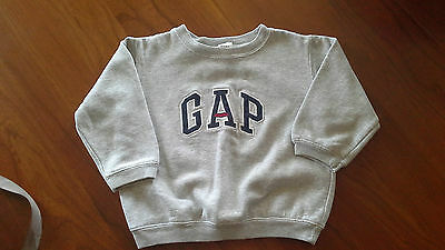 Baby Gap Sweatshirt Gray  With Blue Letters Size 3