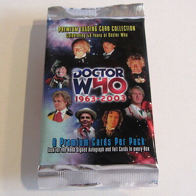 DOCTOR WHO 1963-2003 : Unopened pack trading cards : Strictly Ink : 40 yrs of Dr