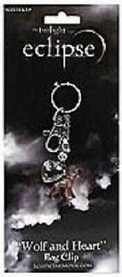 """Twilight """"Eclipse"""" Wolf and Heart Bag Clip"""
