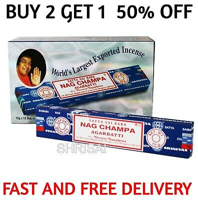 Best Price !! Satya Genuine Nag Champa Incense Sticks Joss + Speedy Delivery UK