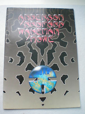 ANDERSON BRUFORD WAKEMAN HOWE 1989 ABWH TOUR PROGRAMME CONCERT BOOK Yes PROG