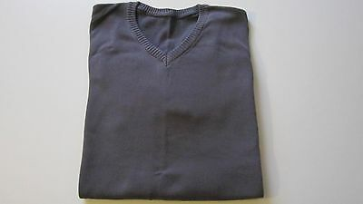 pull homme gris col V  taille XL