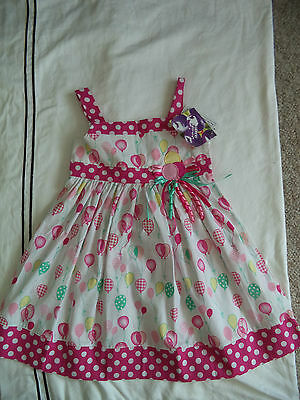 New Girl's Balloons Sundress Dress Size 5 Birthday Girl , Party ADORABLE