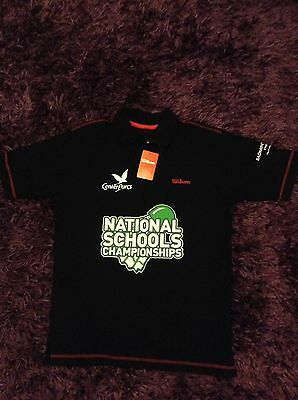 Badminton England Center Parcs National Schools Championships Polo Shirt Black