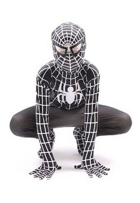 Black Venom SpiderMan superhero kids childrens fancy dress costume halloween